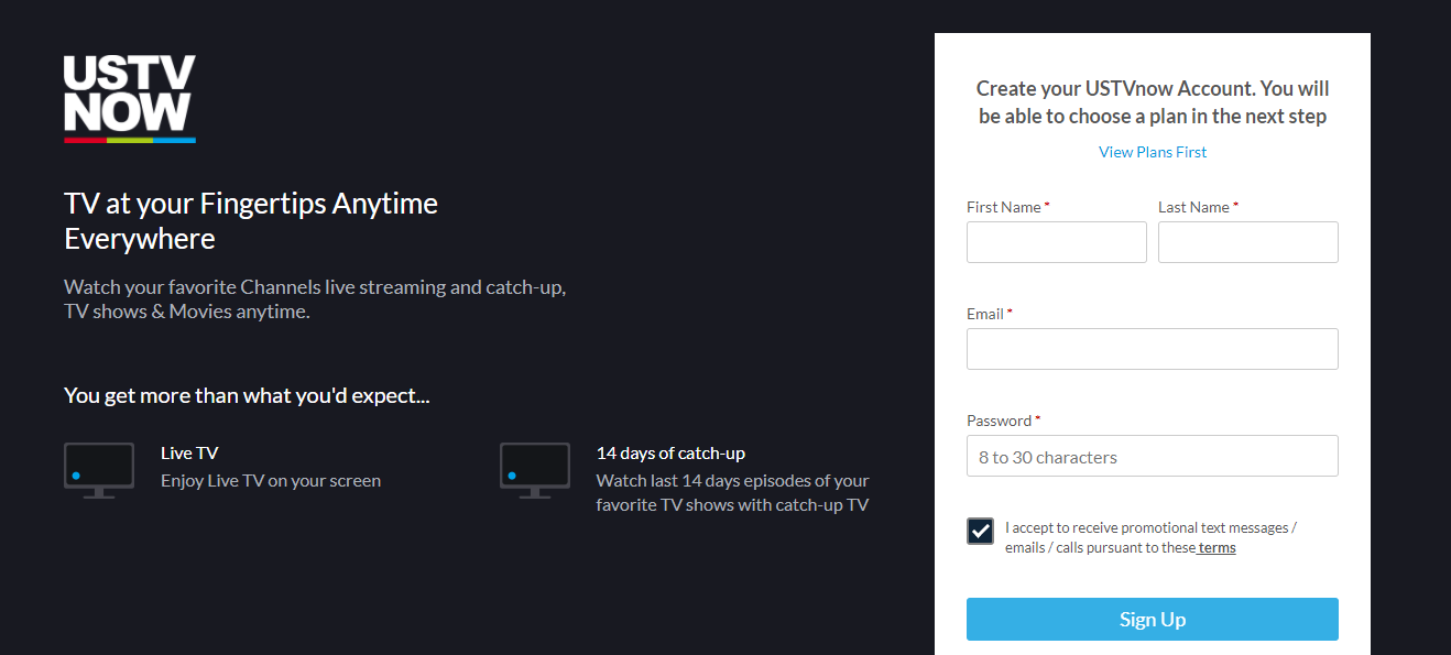 How To Create A Free UstvNow Account step 01