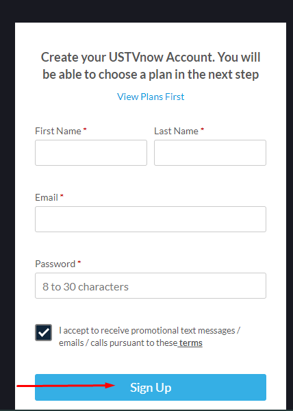 How To Create A Free UstvNow Account step 04