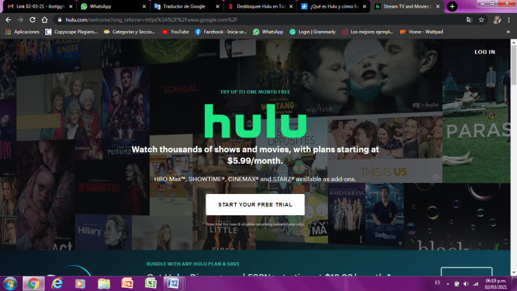 Enter the Official Hulu Site