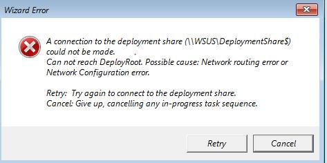 Network Configuration Error